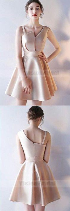 Unique Special Design Zipper Up A-Line Short Homecoming Dress, Elegant Homecoming Dress, VB0752 #homecomingdresses #homecomingdresses