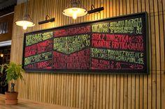 Chalkmarkers menu for Fidel bar, Sopot, Poland.