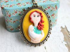 Custom 3D Polymer Clay Portrait Jewelry by NicomadeMe ~ The Beading Gem's Journal