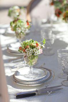 sweet little tufts of flowers for your beach #wedding inspiration...flowers: Krista Jon