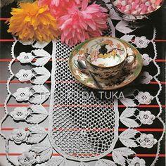 TRI CRO DA TUKA: caminho de mesa/crochê