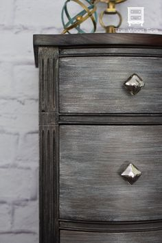Metallic Paint and Metal Effects Patinas help transform a tired desk | Beautiful project by The Wood Spa