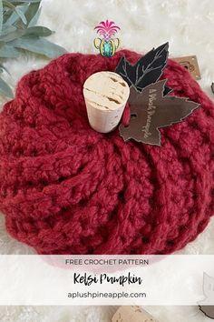 Crochet Fall, Crochet Home, Crochet Crafts, Free Crochet, Crochet Pumpkin Pattern, Halloween Crochet Patterns, Knitting Projects, Crochet Projects, Crochet Ideas