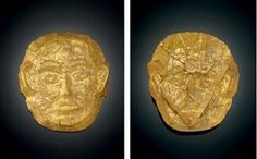 A rare gold funerary mask. Liao dynasty (907-1125).