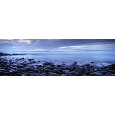 Beach at dusk Westward Ho North Devon Devon England Canvas Art - Panoramic Images (36 x 12)