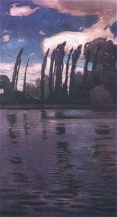Jan Stanisławski – Topole nad wodą