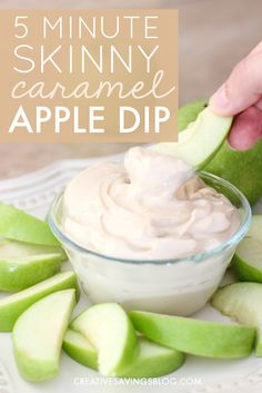 This tasty apple dip recipe comes together in less than 5 minutes! I'll be honest, I was a little skeptical it wouldn't taste all that good, especially since it's made with healthier ingredients, but I seriously can't stay away from this stuff! I'm definitely making this as a snack for next Friday's hangout.