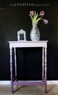 gorg purple ombre painted side table from theCreativeImperative via @RepurposedLife