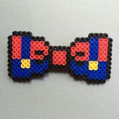 Mario Bros. Perler Bead Bow Tie Mario's classic red and blue by HarmonArt2