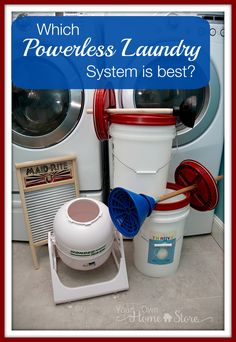 Ever wondered if (and which) powerless laundry system can actually hold up to an electric washer? I tested them all to find out! http://www.yourownhomestore.com/best-powerless-laundry-option/