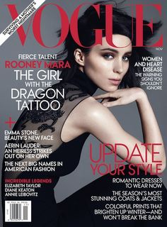 Rooney Mara, US Vogue; November 2011