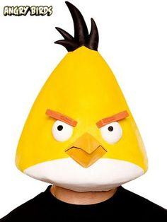 Angry Birds Yellow Bird Adult Mask Halloween Costume Shop, Halloween Masks, Halloween Costumes For Kids, Adult Costumes, Group Halloween, Angry Birds Yellow Bird, Video Game Costumes, Trendy Halloween, Halloween College