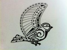 Tattoo great tit. Tattoo Koolmees