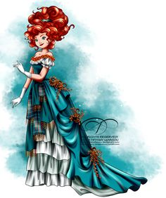 Vintage ballgown - merida by tiffanymarsou disney animated movies, disney songs, disney artwork,