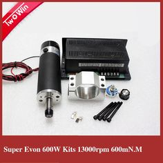 148.75$  Watch now - http://alif5j.worldwells.pw/go.php?t=32394923199 - 600W 13000RPM Air-cooled DC Spindle Motor + Power Supply support for Mach3 system + 57mm clamp  For DIY CNC Machine SA028A