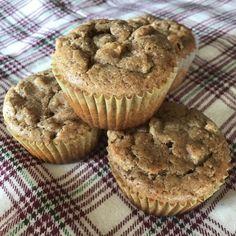 Gluten-free, No Sugar Added Apple Cinnamon Muffins
