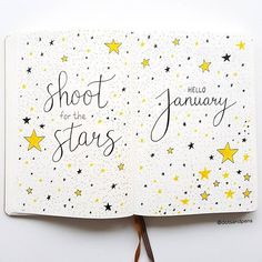 My January cover page I decided to go with a stars theme for this month _____________________________________________ #bulletjournal #bulletjournaling #bujo #bujoaddict #bujobeginner #bujoinspo #bujojunkies #bujobeauty #bujoinspire #bulletjournalshowcase #showmeyourbulletjournal #planner #showmeyourplanner #leuchtturm1917 #monthly #monthlyspread #monthlyplanner