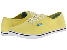 $29.99 (free ship) SIZE 8- Vans Authentic™ Lo Pro (Pop) Yellow/Cyan Blue - 6pm.com
