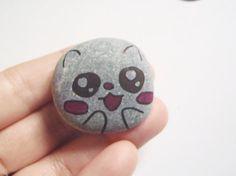kawaii rock art painted stone kids genuine sea by LaSoffittaDiSte