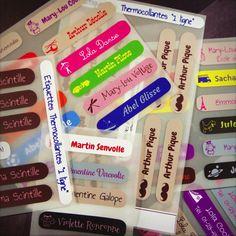 Si torna a scuola! Per non perdere nulla, scegli le nostre etichette adesive e termoadesive personalizzate per identificare oggetti e vestiti dei bambini.