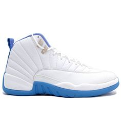 4f5732c0af8062 2014 New Nike Air Jordan 12 Retro Womens White University Blue Shoes On Sale
