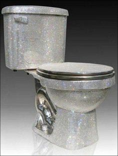 Of COURSE I need a glittery throne.