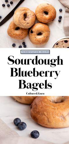 Sourdough Bagels, Sourdough Recipes, Bread Recipes, Starter Recipes, Vegan Recipes, Tasty Bread Recipe, Bagel Recipe, Savory Breakfast, Vegan Breakfast Recipes