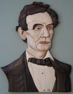 Lincoln intarsia by Duane Martin