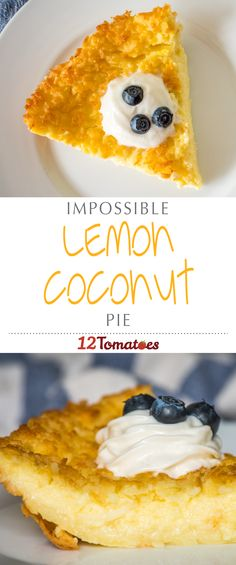Lemon Coconut Impossible Pie | This dessert is ridiculously easy (plus, clean-up's a breeze!) and we promise your whole family will love it…get the little ones to help out and watch them be amazed at the results!