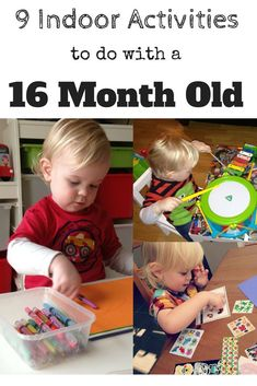 9 Indoor Activities to do with a 16 Month Old