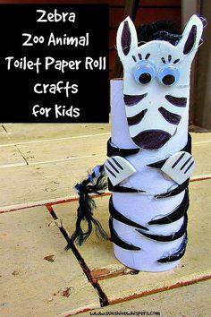 Zebra Zoo Animal Toilet Paper Roll Crafts for Kids- Sunshine Whispers http://www.sunshinewhispers.com/2015/08/zebra-zoo-animal-toilet-paper-roll-crafts-for-kids/