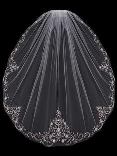 En Vogue Bridal Accessories - Single Tier Bridal Veil | V704SF (http://www.envogueaccessories.com/Bridal-english-tulle-veil-v704sf/)