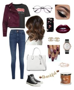 """"""""""" by paulinepugeaut on Polyvore featuring mode, Tommy Hilfiger, Converse, J Brand, River Island, MICHAEL Michael Kors et Chanel"""