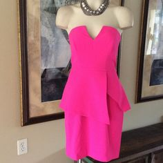 Dress Absolutely stunning fushia dress! Dress way up or down. It's so beautiful & it's brand new with tags still attached. FindersKeepers Dresses