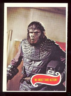 Planet of the Apes trading card  MORE BAD ASS THAN ANY NEW DUMB REMAKE COME ON!