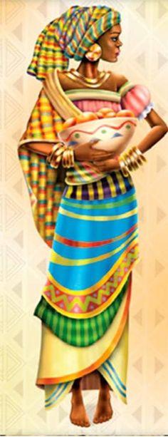 American Art, African, Indigenous Art, Art Painting, Female Art, Art Girl, African People, African Art Paintings, Africa Art