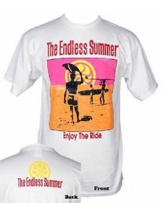 HIC - The Endless Summer T' (white)  The Endless Summer T-shirt by H.I.C. (Hawaiian Island Creations) features iconic artwork from the class...