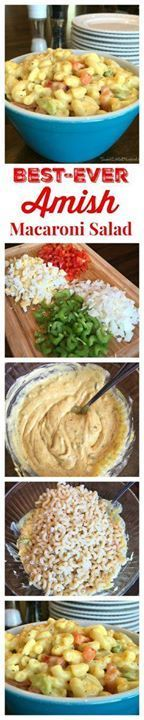 BEST-EVER AMISH MACA BEST-EVER AMISH MACARONI SALAD - This sweet and tangy super creamy macaroni salad is sure to be a hit at your next get-together people will be going back for seconds and thirds! Be prepared to hand out copies of the recipe family and friends will be asking for it! Recipe : http://ift.tt/1hGiZgA And @ItsNutella  http://ift.tt/2v8iUYW  BEST-EVER AMISH MACA BEST-EVER AMISH MACARONI SALAD - This sweet...