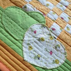Mia's Creations: Disappearing Four Patch Cot Quilt and Pillow