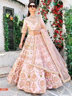 1898f05ca5 Buy lehenga choli online from among a variety of latest designer lehenga  choli. Grab this art silk pink lehenga choli.