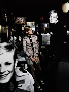 Twiggy, New York 1967 ~ Photo by Melvin Sokolsky 1960s Fashion, Fashion Show, Vintage Fashion, Fashion Design, 1960s Outfits, Swinging London, Twiggy, Vintage Love, Supermodels