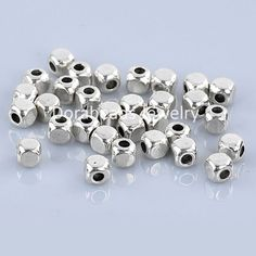 Argent sterling perles 12 mm transparente ronde Spacer for Beading Supplies