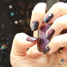 Galaxy Nails main gauche (left hand)