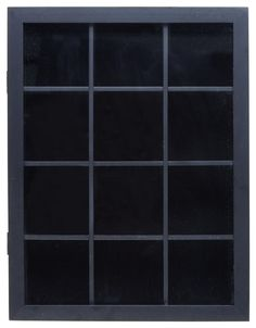 12 Cube Baseball Shadow Box for Table or Wall Mount, Magnetic Swing Door - Black
