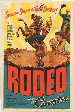 Vintage Western Rodeo Poster - Daredevil Kings ...