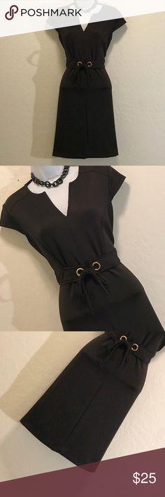 👗Shelby & Palmer Little Black Dress Excellent Condition, Drawstring Waist, Cap Sleeve, Stretch, Back Zipper. Shelby & Palmer Dresses