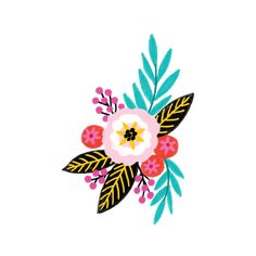 Summer by Jess Phoenix from Tattly Temporary Tattoos. Safe and non-toxic fake tat toos by real artists! Illustration Blume, Posca Art, Arte Floral, Floral Illustrations, Pottery Painting, Flower Art, Design Art, Watercolor Paintings, Art Projects