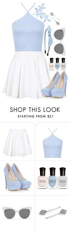 """""""I cannot hide what's on my mind"""" by hevsyblue2 on Polyvore featuring Topshop, Miss Selfridge, Deborah Lippmann, Blanc & Eclare, 1928 and Cara"""