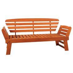 Ławko-leżanka ogrodowa Meranti 2w1, w dwóch ruchach ławka zmienia się w wygodną leżankę,...