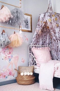 Inspiration from Instagram - @kinderoo_interiors - pastel girls room ideas, pink and grey girls room design, kidsroom decor, girls kidsroom, powder, nursery